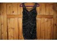 Black short 'Lipsy' cocktail dress - size 16