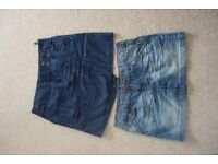 Fat face denim mini skirts