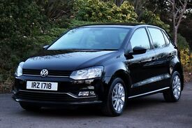 *Beautiful Top Spec.* 2014 VW Polo 1.0 SE Bluemotion 5 Dr, Met. Black, 24mths Warranty