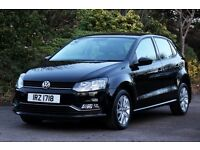 *Beautiful Top Spec.* 2014 VW Polo 1.0 SE Bluemotion 5 Dr, Met. Black, 24mths Warranty