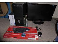 "PC Computer ~ Win 7 24"" Monitor ~ AMDx64 3.2 ghz~1tb ~ 4gb ram"