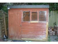 Free garden shed approx 8 x 8 ft - buyer dismantles and collects please. First come first served.