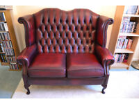 Red Leather 2-Seater Sofa in Great Condition