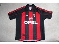 AC Milan 98-00 Home football shirt. Genuine, vintage retro shirt from 1998, not a modern copy