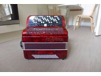 Chromatic Accordion 69 Buttons 80 Bass Gedo Red