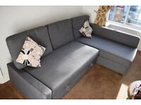 Ikea Corner Sofa Bed - Grey (FRIHETEN)
