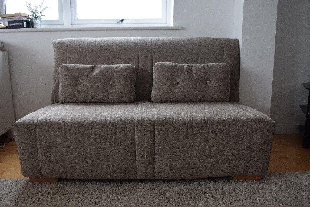 John Lewis Strauss Large 3 Seater Sofa Bed Grey Less