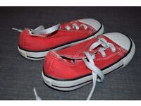 Red All star converse infant size 8. Good condition