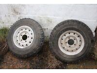 Michelin 7.5 R16C 116/114N 4x4 O/R XZL tyres on wheels