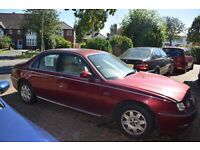 Rover 75 Needs clutch thrust bearing, no MOT only £180 Good runner when working! Just no time to fix