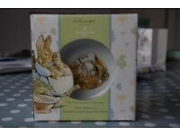 BRAND NEW Peter Rabbit Wedgewood two piece mug and bowl set