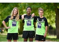 Central London womens football/ladies soccer team seeks good experienced players.