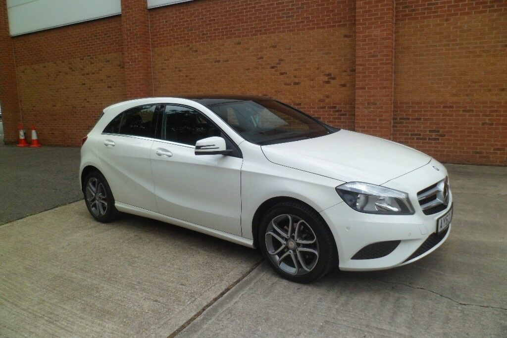 mercedes a class white 5 door 2013 63 plate 1 7 panoramic. Black Bedroom Furniture Sets. Home Design Ideas