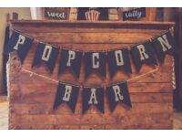 £150 BRISTOL HIRE: popcorn bar, popcorn stand for weddings/events from the hire supplier!