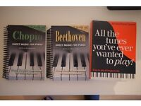 3 books of piano music sheets