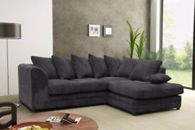 LEFT/RIGHT HAND SIDES!! NEW DYLAN JUMBO CORD SOFA IN DIFFERENT COLORS -- CORNER OR 3 AND 2 SEATER