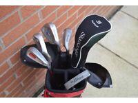 Junior / Beginner Golf Set (bag, 3w, 5, 7, sw, dw, putter)