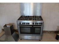 Kenwood CK404 freestanding dual fuel 90cm double oven