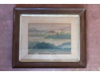 Antique Watercolour Painting by American Artist Mary E Stokes