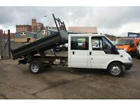 FORD TRANSIT 90 T-350 DOUBLE CAB TIPPER – 06-reg