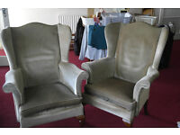 Wing Back Parket-Knoll chairs