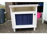 WHITE IKEA BEDSIDE TABLE - IN GOOD CONDITION