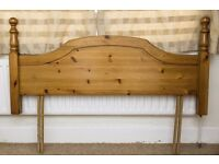 Double Bed pine headboard only