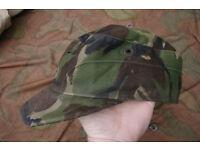 Pair of Vintage 1980s - British Army DPM 'crap' Caps