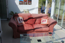 Two matching 2 person sofas Free to collector