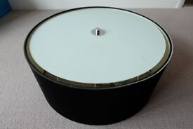 Stunning Drum Pleat 3 Light Ceiling Pendant Lampshade (Black) - Mint condition