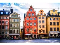 London Gatwick to Stockholm (LGW-ARN) Friday 1st Sept 17h00 - Seat selection + 1 Checked luggage