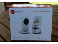 New Motorola MBP481 Video Baby Monitor comes with a full 2-inch colour LCD