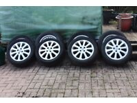 4 Alloy wheel rims and tyres for Vauxall Astra