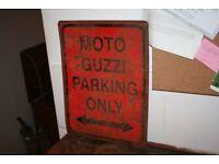 Moto Guzzi metal sign