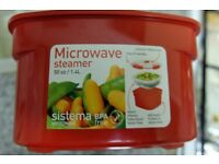Sistema Microwave Medium Steamer Removable Basket 1.4 L Excellent Condition Baby Food Clearance