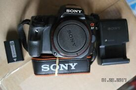 SONY A37 16MP DIGITAL SLR WITH 18-55 AND 70-300 MM LENS. LIVE VIEW, HD VIDEO.