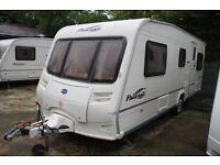 Bailey Pageant Vendee 2004 4 Berth Fixed Transverse Bed Caravan + Motor Movers
