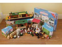 sylvanian families job lot - Barge, horse and cart, treehouse, tree swing, wedding set, captain set