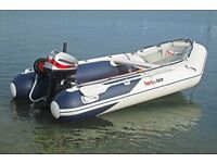 Honwave 320 Inflatable 2011 + 15hp Mariner Outboard Engine.