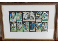 Vintage Framed Picture The House That Jack Built Childs Nursery Unusual Decoupage Cat Dog