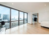 VACANT FULLY FURNISHED 2 BED 2 BATH WITH PANORAMIC VIEWS - 28TH FLOOR CANARY WHARF TOWER HAMLETS