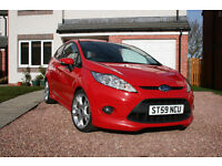 Ford Fiesta Zetec S 1.6, 2009, Red, Petrol, 3drs, Only 50k miles