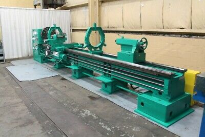 32 X 200 Edelstaal Hollow Spindle Gap Bed Engine Lathe Yoder 66525