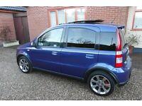 FIAT PANDA 100HP BLUE 1.4 16v 6 SPEED WITH SPORT MODE BUTTON 5 DR HATCH 58 REG