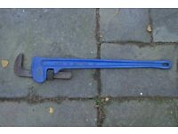 A very large capacity Stilson pipe wrench in almost new condition-BIG capacity 5 inch 125mm