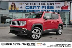 2017 Jeep Renegade LIMITED 4X4+TOIT AMOVIBLE+CUIR+NAVIGATION