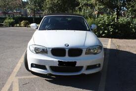 WHITE BMW 118D SPORT CONVERTIBLE 2011