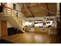 Large double room in bright beautiful converted warehouse space