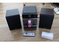 L@@K Philips DCM129 4W Micro CD HiFi System with iPod Dock in Black + iPod nano 8GB