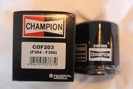COF203 F304 F306 CHAMPION OIL FILTER FOR SOME HONDAS, KAWASAKIS AND YAMAHAS